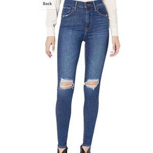Levi's mile high rise distressed skinny jeans NWT